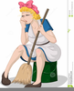 Cleaning Woman Clipart Free Image