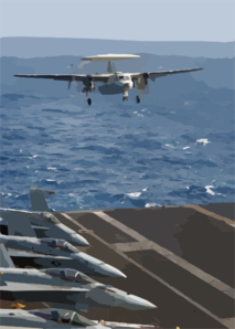 E-2c Makes An Arrested Landing Clip Art