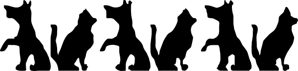 Cats And Dogs Clipart Black And White