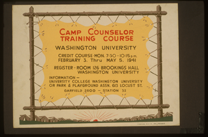 Camp Counselor Training Course, Washington University Image