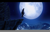 Clipart Wolf Howling At The Moon Image