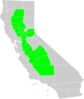 California Central Valley County Map Clip Art