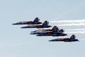 Blue Angels - Fly-by At Fleet Week Image