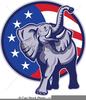 Free Republican Elephant Clipart Image