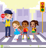 Pedestrian Safety Clipart Image