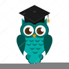 Clipart Of Owl With Graduation Cap Image