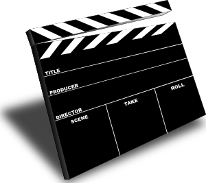 Scene Slate Clip Art