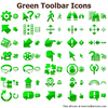 Green Toolbar Icons Image