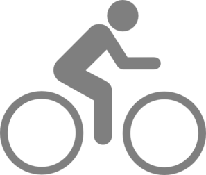 Bike Sign Gray Clip Art
