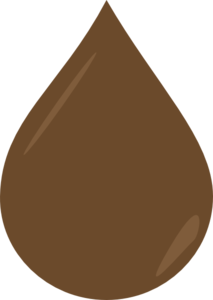Brown Droplet Textured - Bhill Clip Art