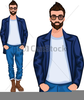 Young Man Clipart Image