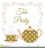 Clipart Tea Party Invitation Image