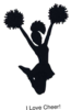 I Love Cheer Clip Art