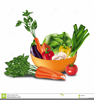 Fruits And Vegetables Basket Clipart Image