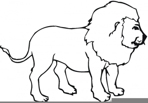 Lion Clipart Outline | Free Images at Clker.com - vector ...
