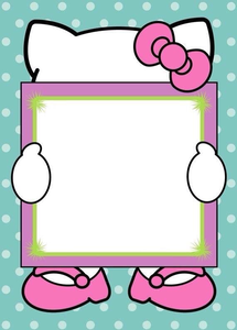 free hello kitty clipart borders free images at clker com vector rh clker com hello kitty clipart cheerleader hello kitty clipart thank you