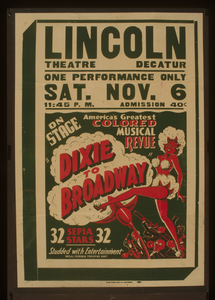 On Stage America S Greatest Colored Musical Revue  Dixie To Broadway  Image