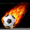 Soccer Ball On Fire Clipart Image