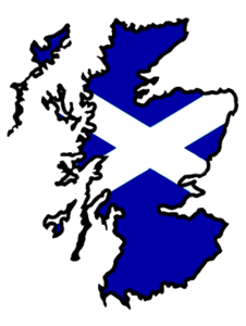 Scotland Flag Map Big Image