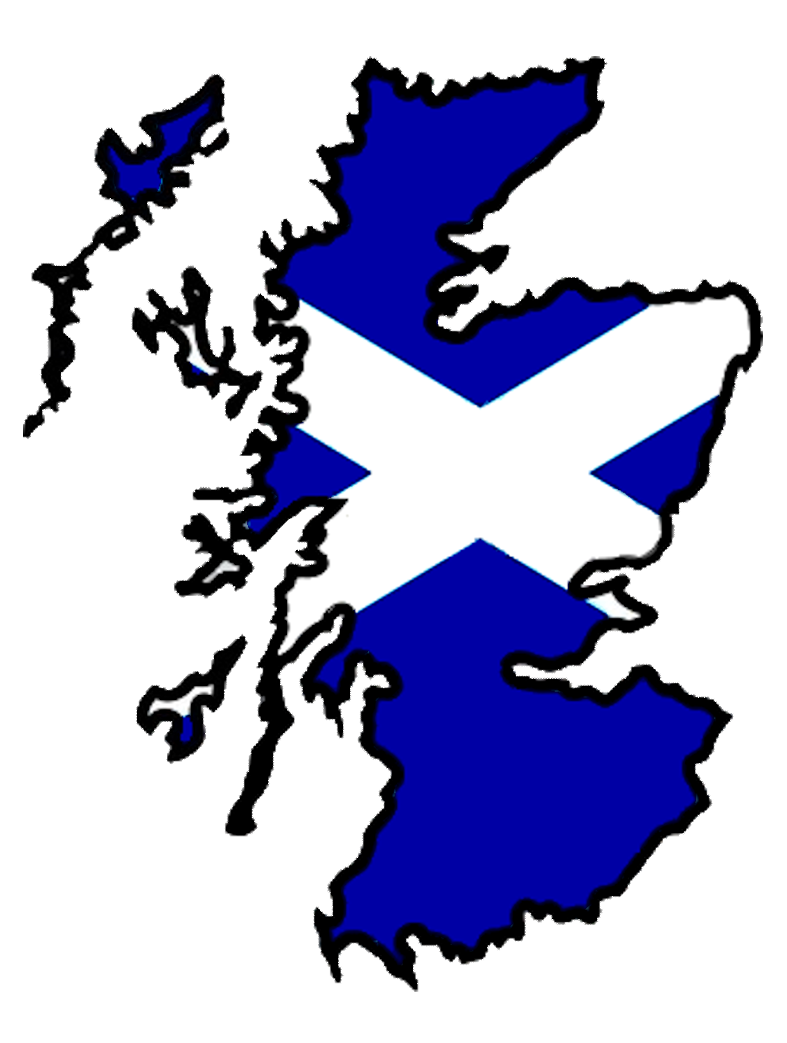 scotland flag outline
