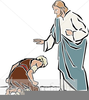 Jesus Healing The Blind Clipart Image