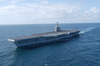 Uss John C. Stennis (cvn 74) Underway Off The Coast Of Southern California. Image