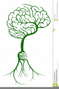 Brain With Bulb Clipart Image