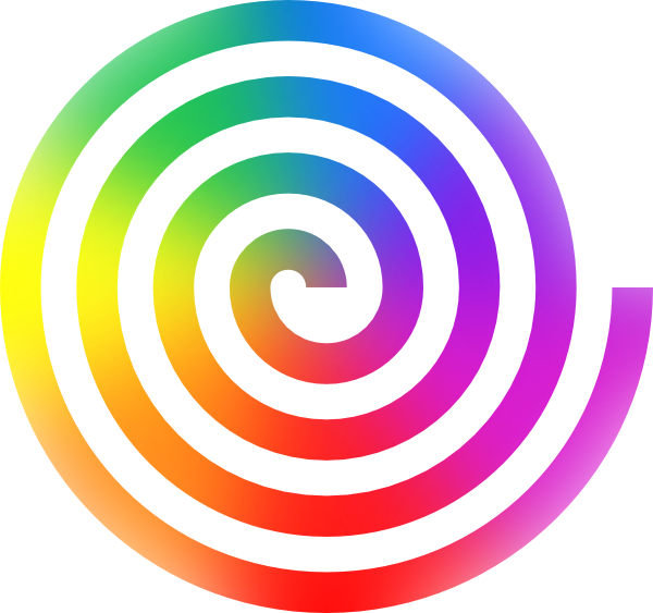 Rainbow Spiral Clip Art at Clker.com - vector clip art online, royalty ...