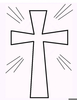 Cross Outlines Clipart Image