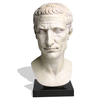 Hand Carved Marble Julius Caesar Bust For Image