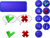 Collection Of Buttons Gui Clip Art