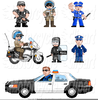Motorcycle Cop Clipart Image