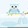Baby Shower Owl Clipart Image