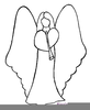 Angel Black And White Clipart Image