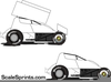 Winged Sprint Car Clipart Image