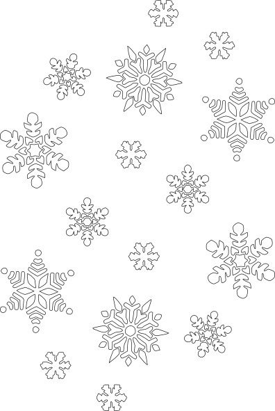 Snowflake Black And White Clip Art at Clker.com - vector ...