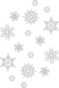 Snowflake Black And White Clip Art