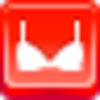 Free Red Button Icons Bra Image