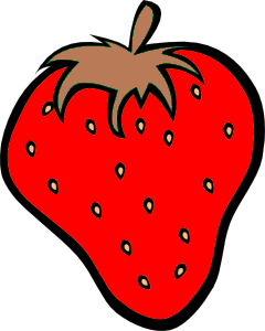 red strawberry free images at clkercom vector clip
