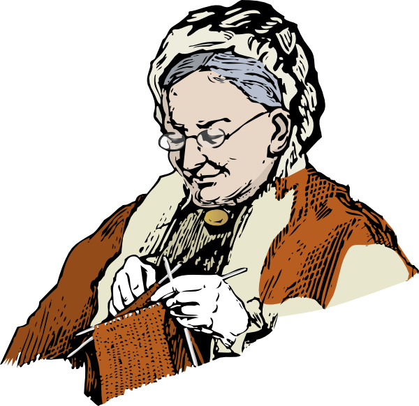 Knitting Granny Clipart : Knitting granny clip art at clker vector