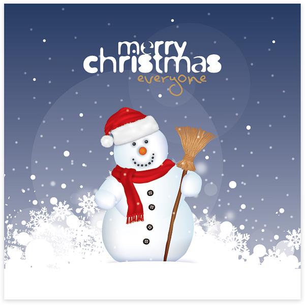 Christmas Snowman 1  Free Images at Clkercom  vector clip art