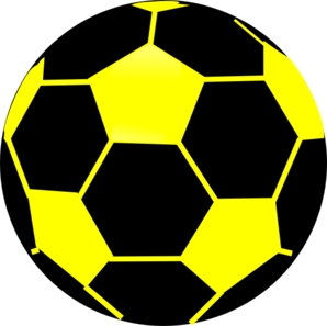 Black And Yellow Soccer Ball Clip Art