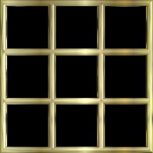 gold frame border window image