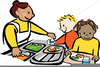 Cafeteria Helper Clipart Image
