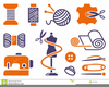 Free Knitting Icons Clipart Image