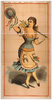 [dancing Chorus Girl With Cane And Blue Hat] Image