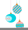 Free Christmas Ball Ornament Clipart Image