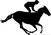 Free Clipart Of Horses Racing Image