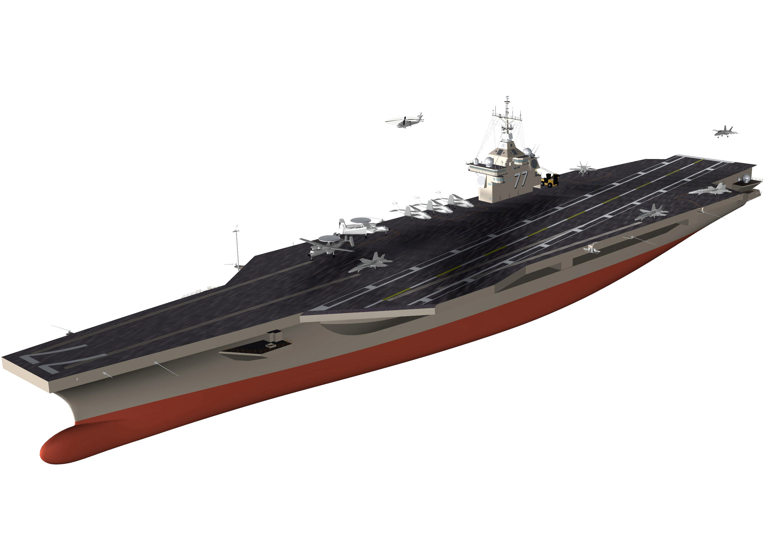 An Artist S Conceptual Drawing Of The U S Navy S Newest