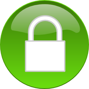 Padlock Button Clip Art